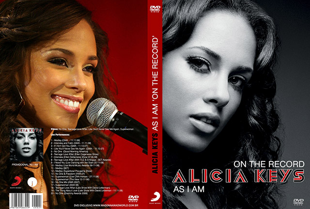 dvd alicia keys - as i am - on the record