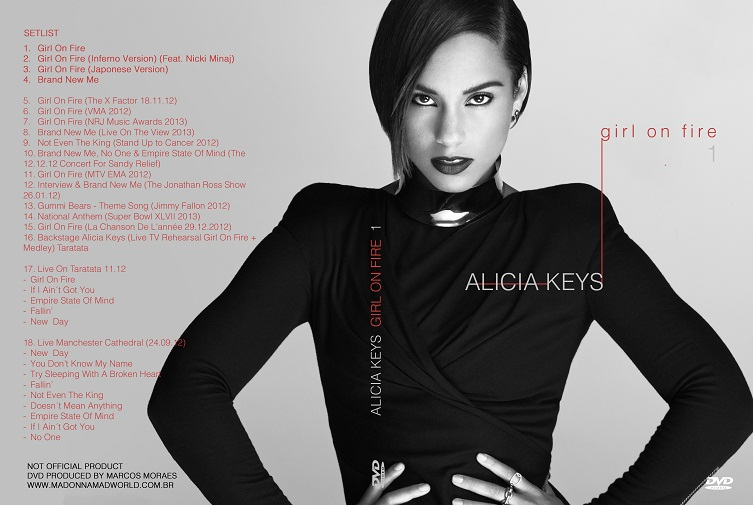 CAPA DVD ALICIA GIRL ON FIRE