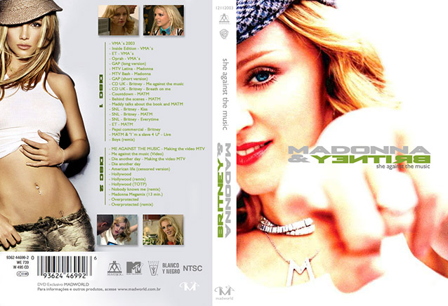 DVD MADONNA BRITYNEY SHE AGAINST THE MUSIC