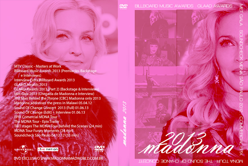 dvd madonna 2013 - Billboard Music Awards - Glaad Awards - Met Gala, Sound Of Change 2013-2