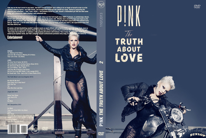 DVD PINK THE TRUTH ABOUT LOVE VOL CAPA