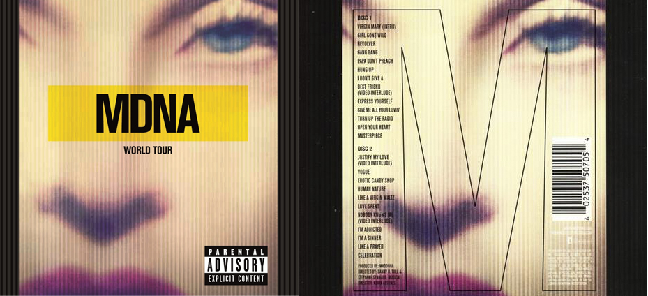 madonna mdna tour cd