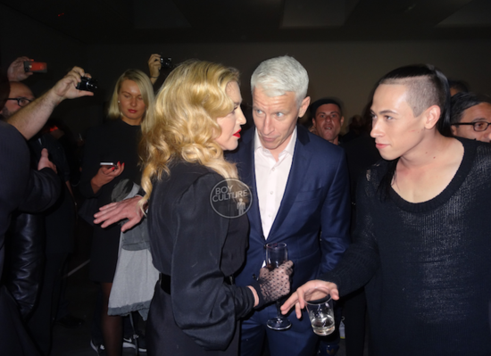 Madonna, Anderson e o dançarino-astro Chaz Buzan