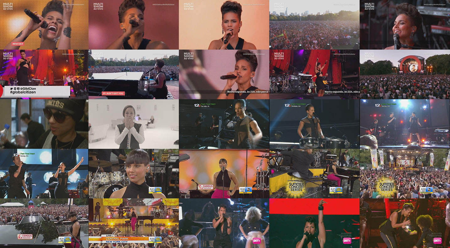 dvd alicia keys live global citizen 2013 + girl on fire 2013