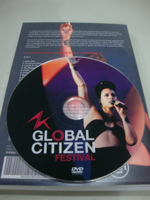 dvd alicia keys live global citizen festival 2013 (2)