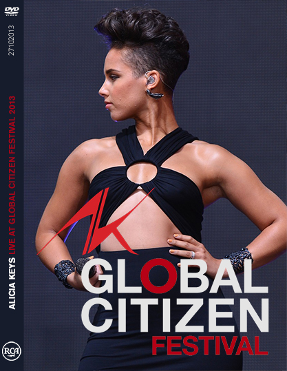 dvd alicia keys live global citizen festival 2013 capa