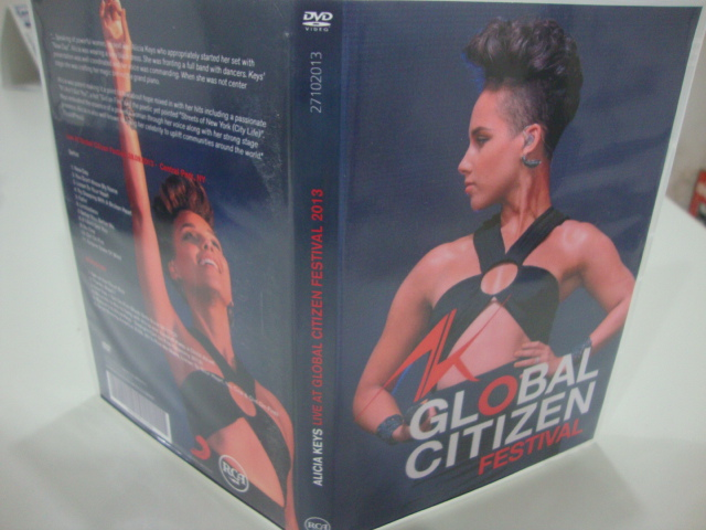 dvd alicia keys live global citizen festival 2013