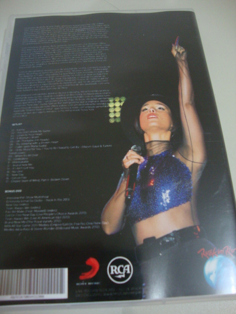 dvd alicia keys rock in rio 2013 (5)set the world on fire tour
