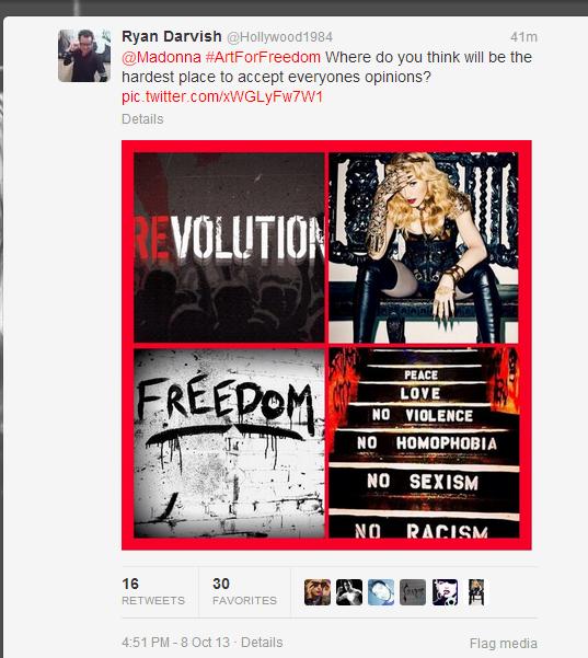 madonna secret projeto 2013 twitter fans
