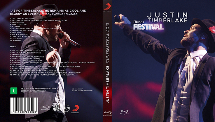blu-ray justin itunes festival 2013