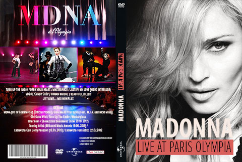 DVD MADONNA OLYMPIA MDNA TOUR COVER