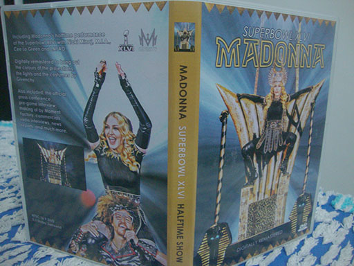 DVD madonna superbowl 2012 art