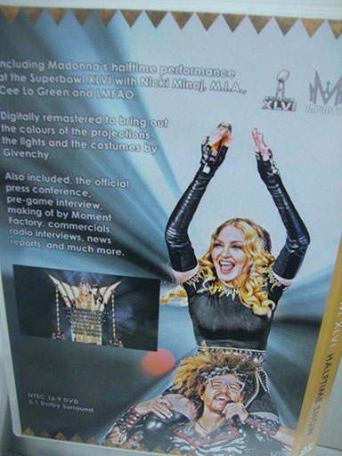 DVD madonna superbowl 2012 back cover