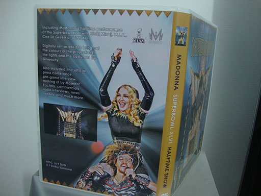 DVD madonna superbowl 2012 back