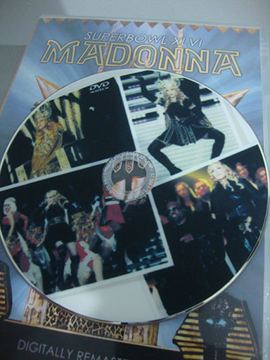 DVD madonna superbowl 2012 dentro