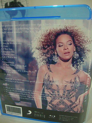blu-ray a night with beyoncé e drunk in love grammy 2014-contracapa