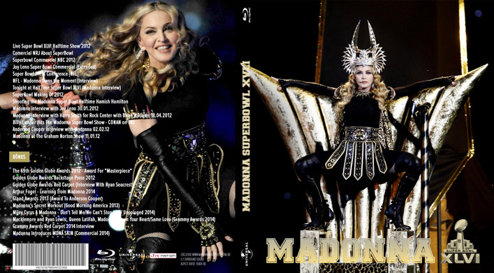 blu-ray madonna superbowl art cover capa