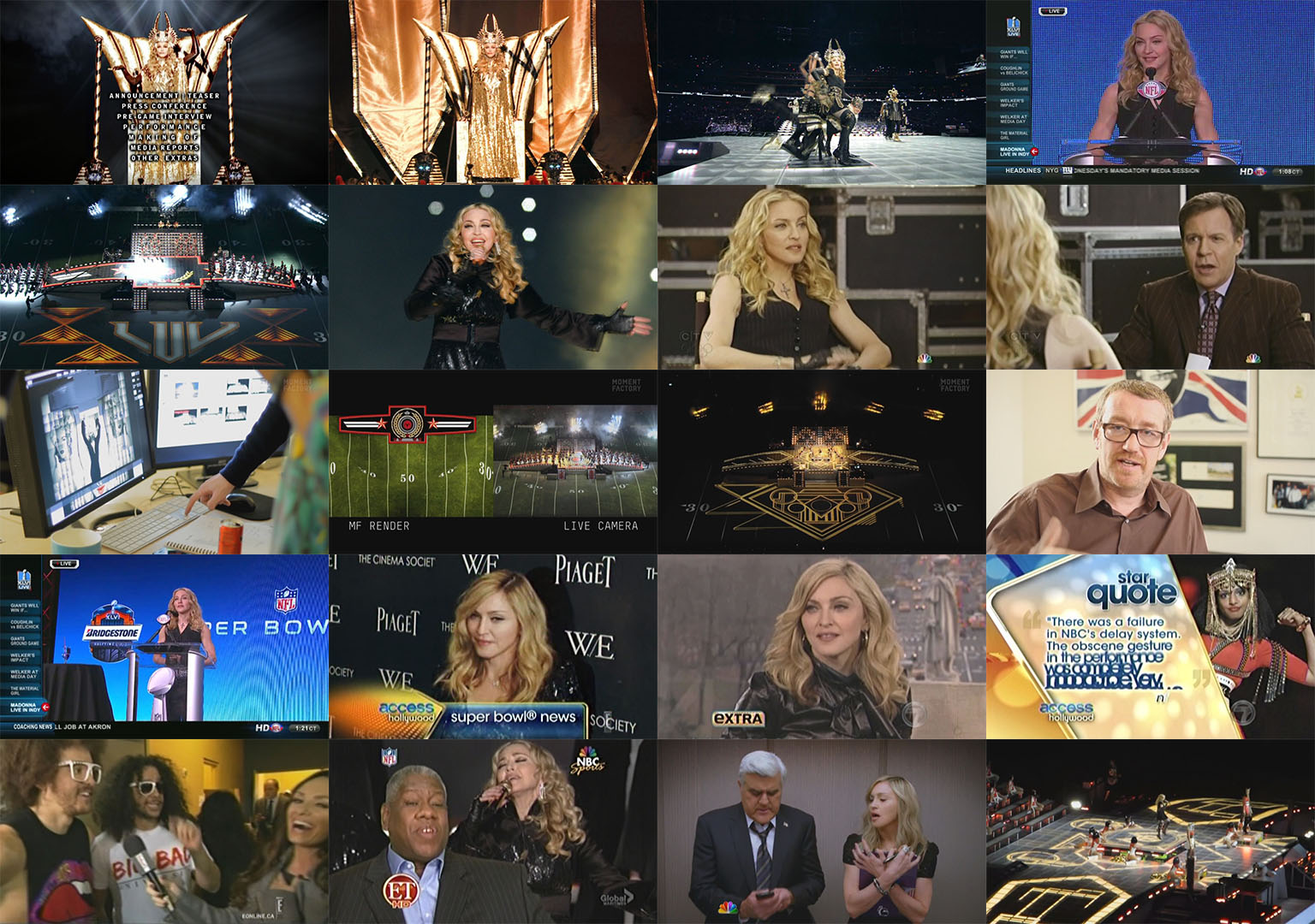dvd madonna superbowl 2012