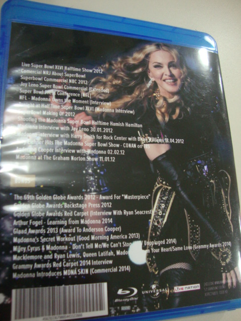madonna blu-ray dvd supwerbowl grammy 2014 miley cyrus back cover