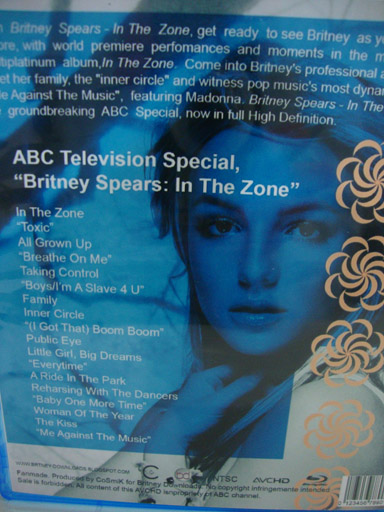 blu-ray britney spears in the zone3