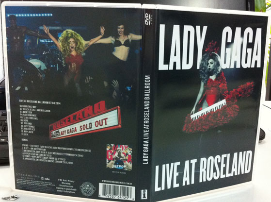 dvd lady gaga live at roseland artpop artrave ball tour capa