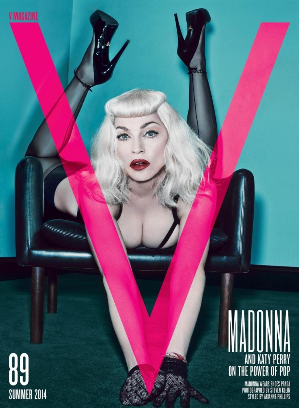madonna v magazine cover capa