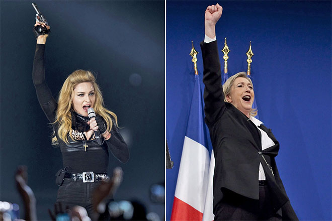madonna marine le pen nobody knows me frança