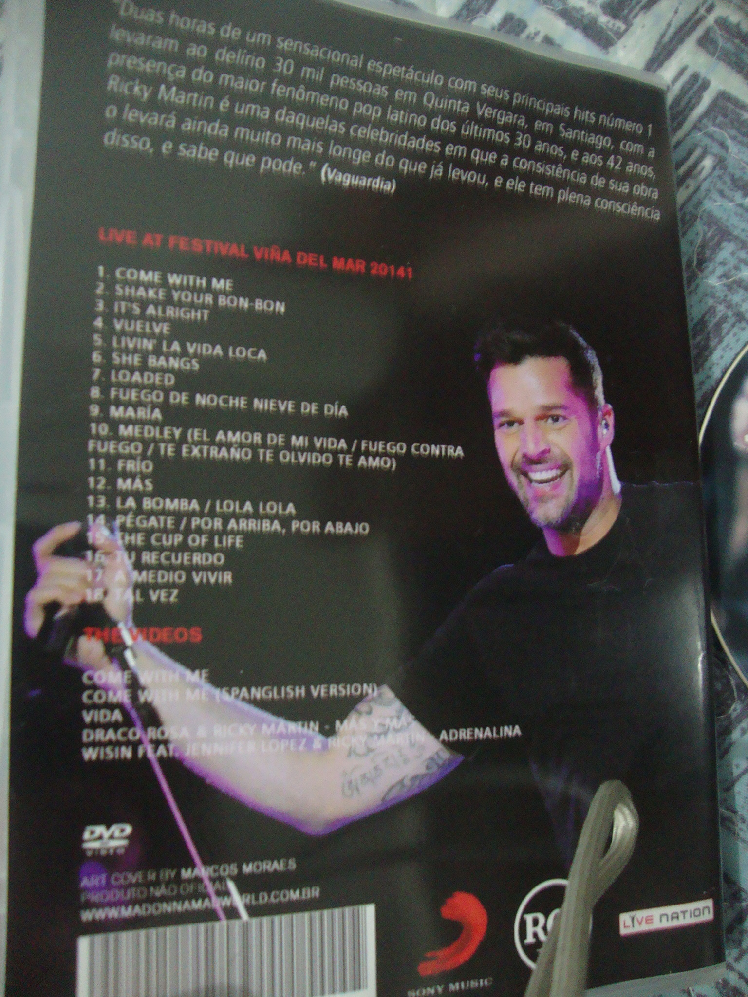 dvd ricky martin festival viña del mar come with me adrenalina3