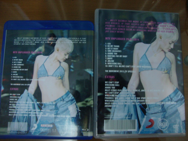 dvd blu-ray miley cyrus mtv unplugged 2014 we can't stop vma 2013