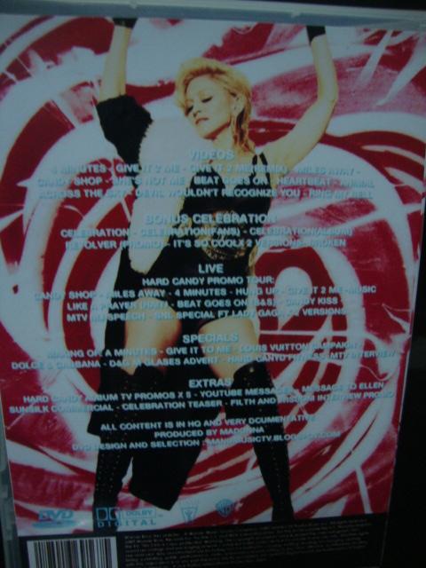 DVD Madonna Hard Candy atrás