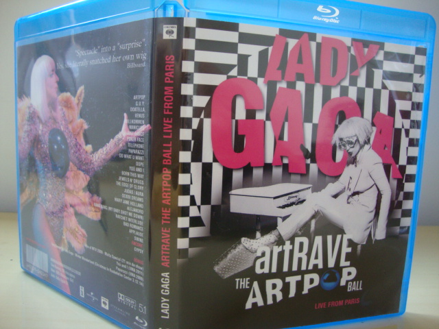 BLU-RAY Lady Gaga ARTPOP aRTRAVE Live From Paris capa