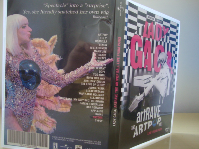 DVD Lady Gaga ARTPOP aRTRAVE Live From Paris BACK