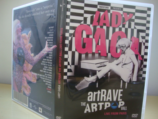 DVD Lady Gaga ARTPOP aRTRAVE Live From Paris CAPA