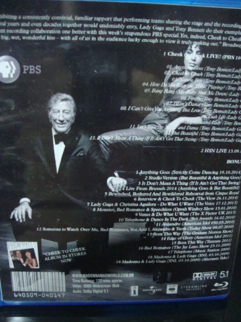 blu-ray lady gaga e tony bennett cheek to cheek PBS + extras backcover