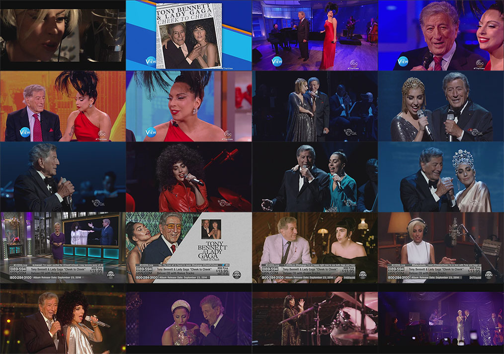 lady gaga e tony bennett cheek to cheek PBS + extras