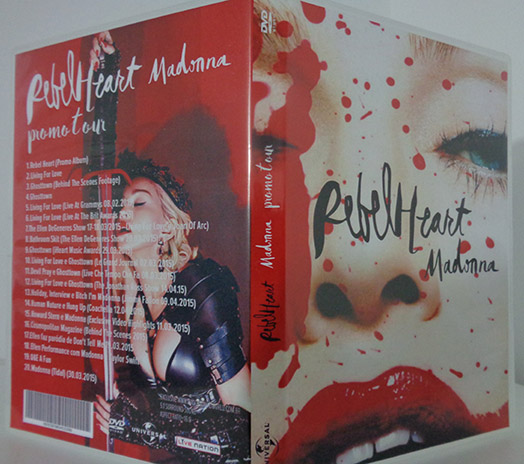 dvd madonna rebel heart promo tour