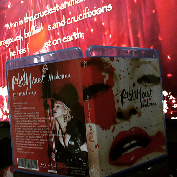 blu-ray dvd madonna rebel heart capa