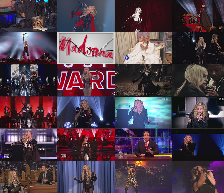 dvd blu-ray madonna rebel heart promo tour caps