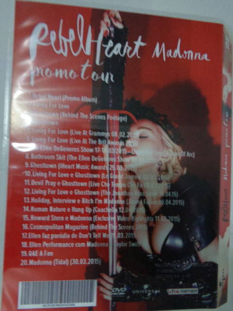 dvd madonna rebel heart 4