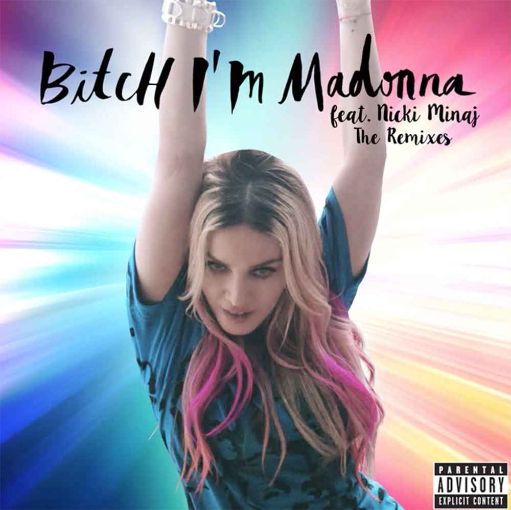 madonna bitch i'm madonna single cover capa