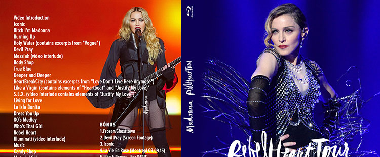 blu-ray MADONNA REBEL HEART TOUR chicago