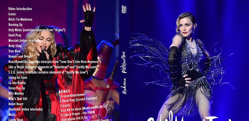 dvd MADONNA REBEL HEART TOUR chicago