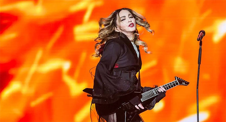 madonna rebel heart tour tapei guitarra