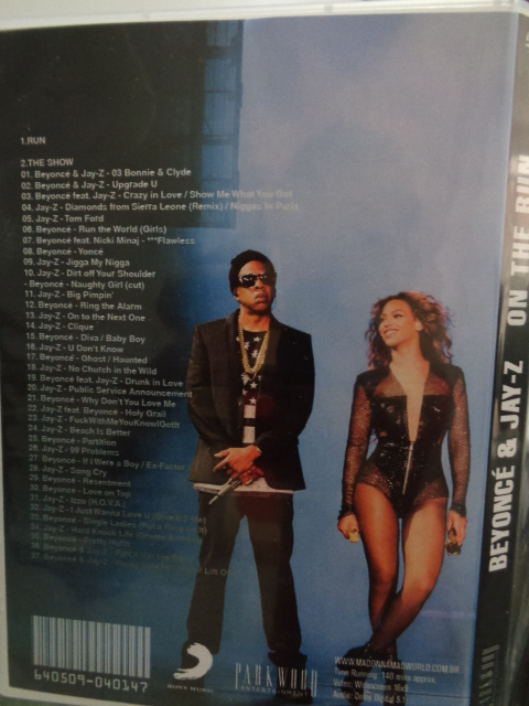 DVD BEYONCÉ + JAY-Z - ON THE RUN BACK COVER