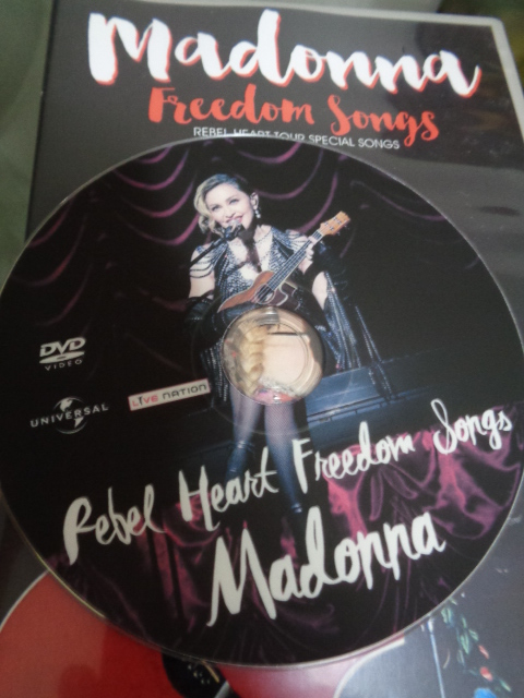 DVD MADONNA REBEL HEART TOUR - FREEDOM SONGS CD