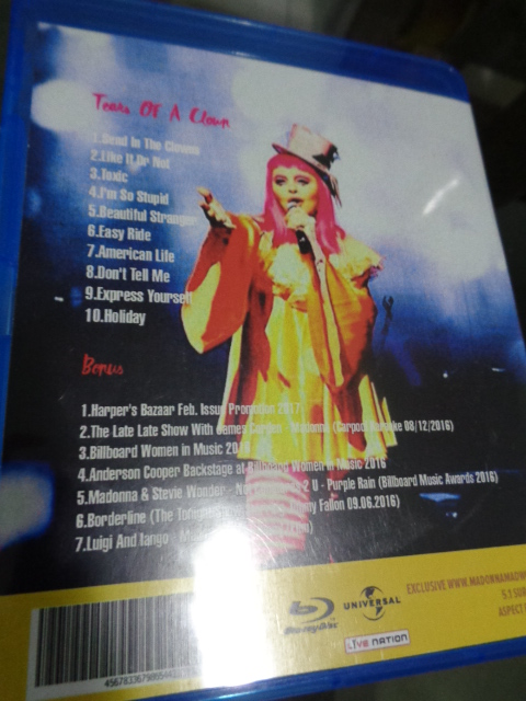 Bluray e CD Madonna Rebel Heart Tour - Tears Of A Clown 3
