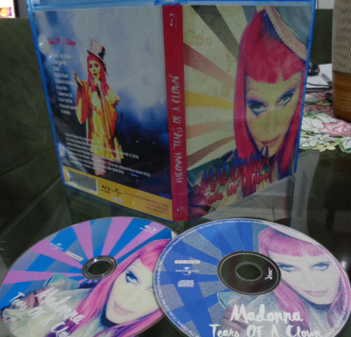 Bluray e CD Madonna Rebel Heart Tour - Tears Of A Clown 5